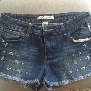 ZCO Jean Shorts with Beads